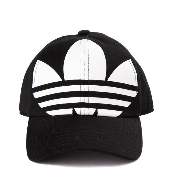 Main view of adidas Originals Trefoil Relaxed Dad Hat - Black / White
