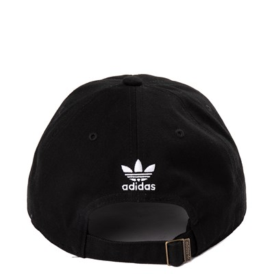 Alternate view of adidas Originals Trefoil Relaxed Dad Hat - Black / White