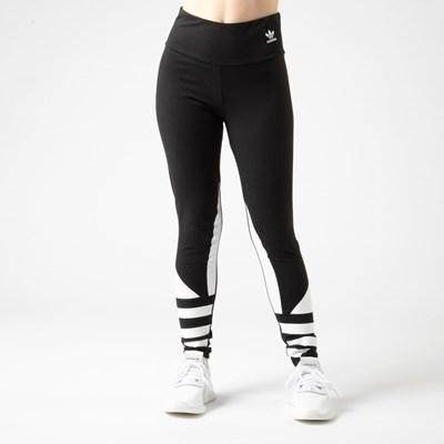 Main view of Womens adidas Trefoil Leggings - Black