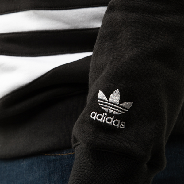 alternate view Mens adidas Big Trefoil Hoodie - BlackALT5