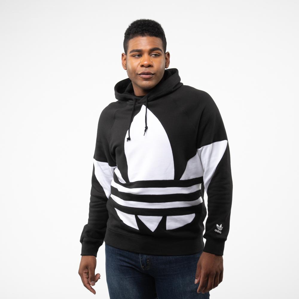 Mens adidas Big Trefoil Hoodie - Black