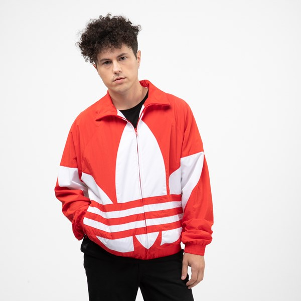 Mens adidas Big Trefoil Track Jacket - Lush Red