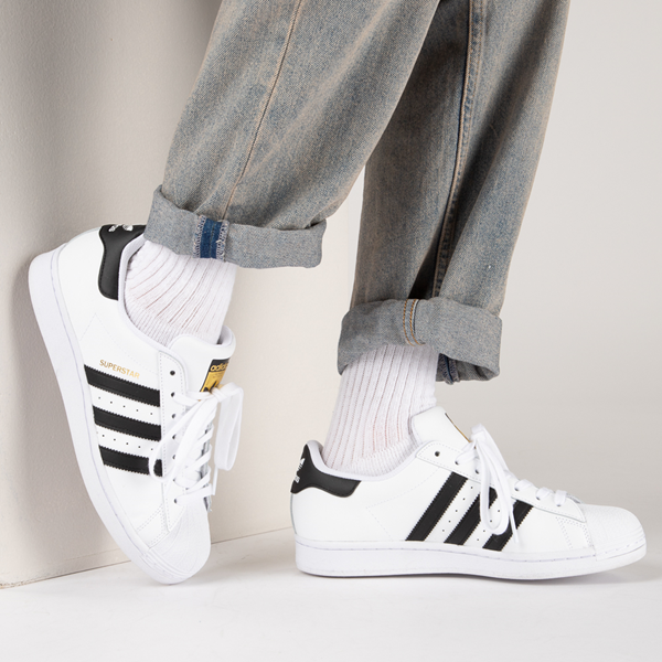 alternate view Mens adidas Superstar Athletic Shoe - White / BlackB-LIFESTYLE1