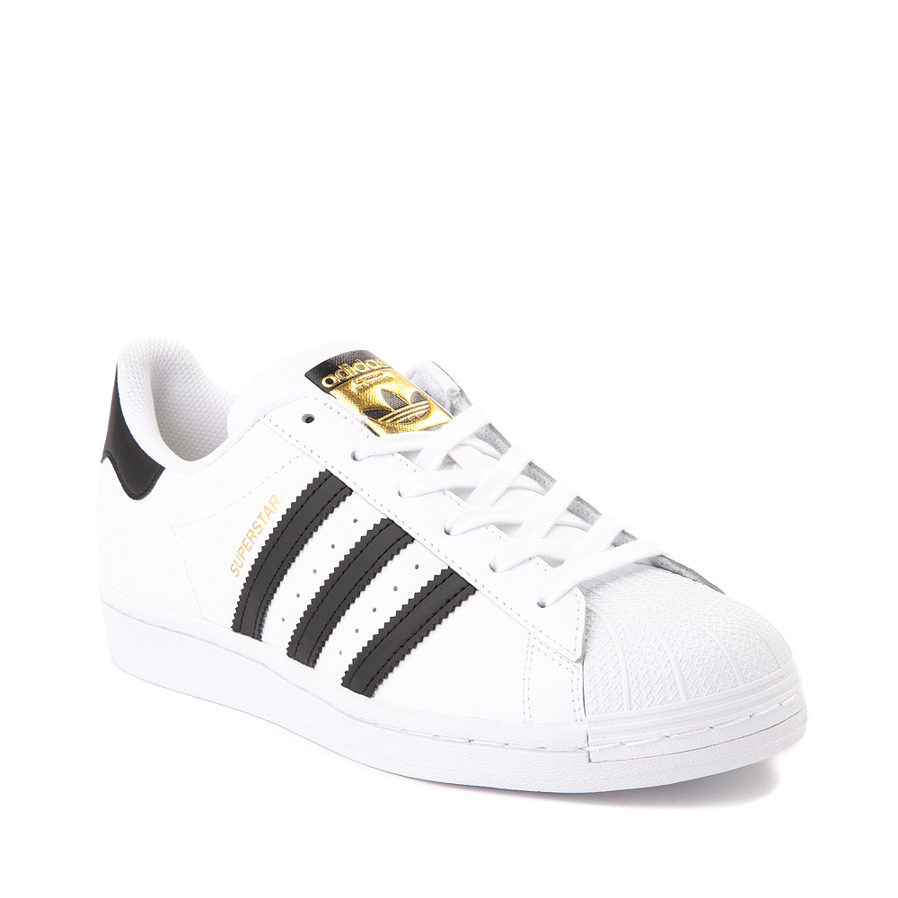 Mens adidas Superstar Athletic Shoe - White / Black