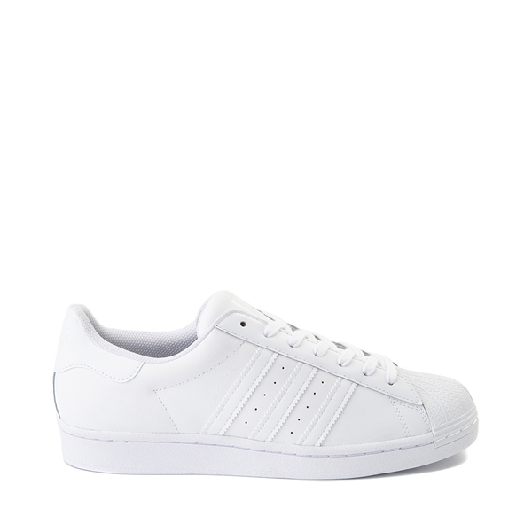 Mens adidas Superstar Athletic Shoe - White Monochrome