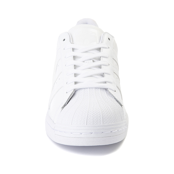 alternate view Mens adidas Superstar Athletic Shoe - White MonochromeALT4