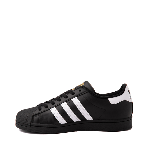 alternate view Mens adidas Superstar Athletic Shoe - Black / WhiteALT1