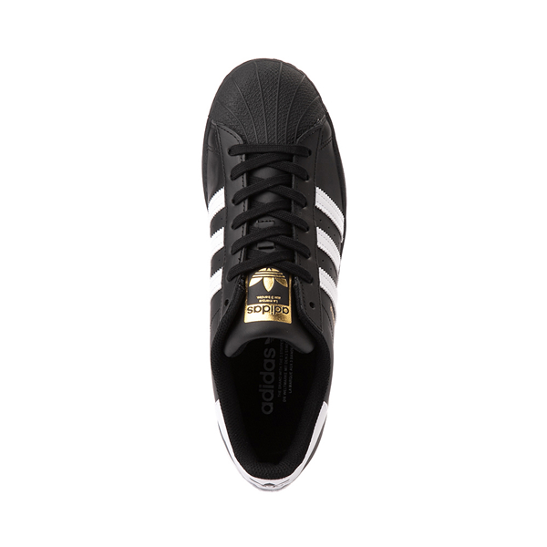 alternate view Mens adidas Superstar Athletic Shoe - Black / WhiteALT2
