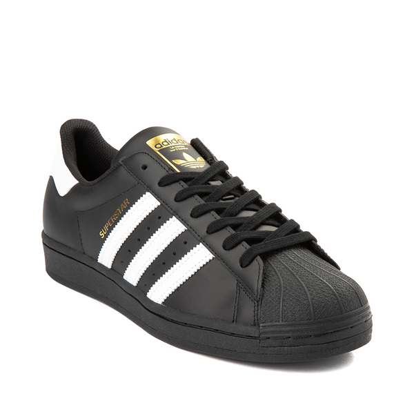 alternate view Mens adidas Superstar Athletic Shoe - Black / WhiteALT5