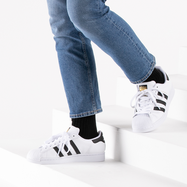 alternate view Womens adidas Superstar Athletic Shoe - White / BlackB-LIFESTYLE1