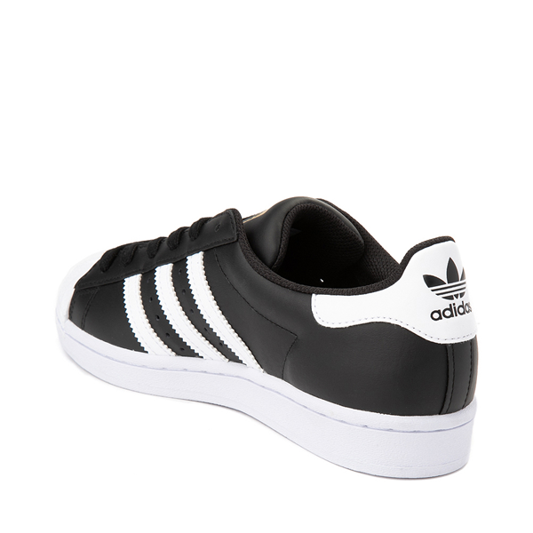 alternate view Womens adidas Superstar Athletic Shoe - Black / WhiteALT1