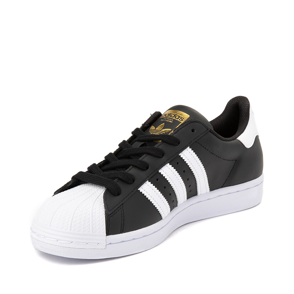 alternate view Womens adidas Superstar Athletic Shoe - Black / WhiteALT2