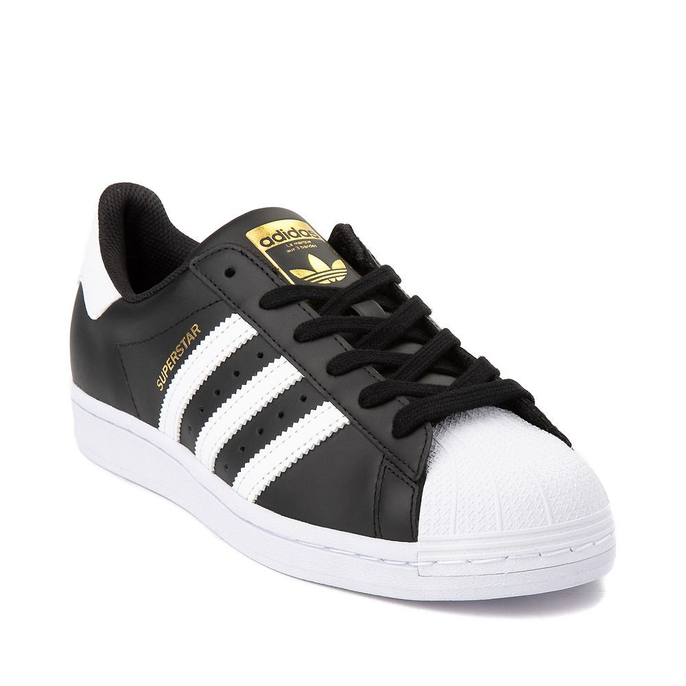 Womens adidas Superstar Athletic Shoe - Black / White