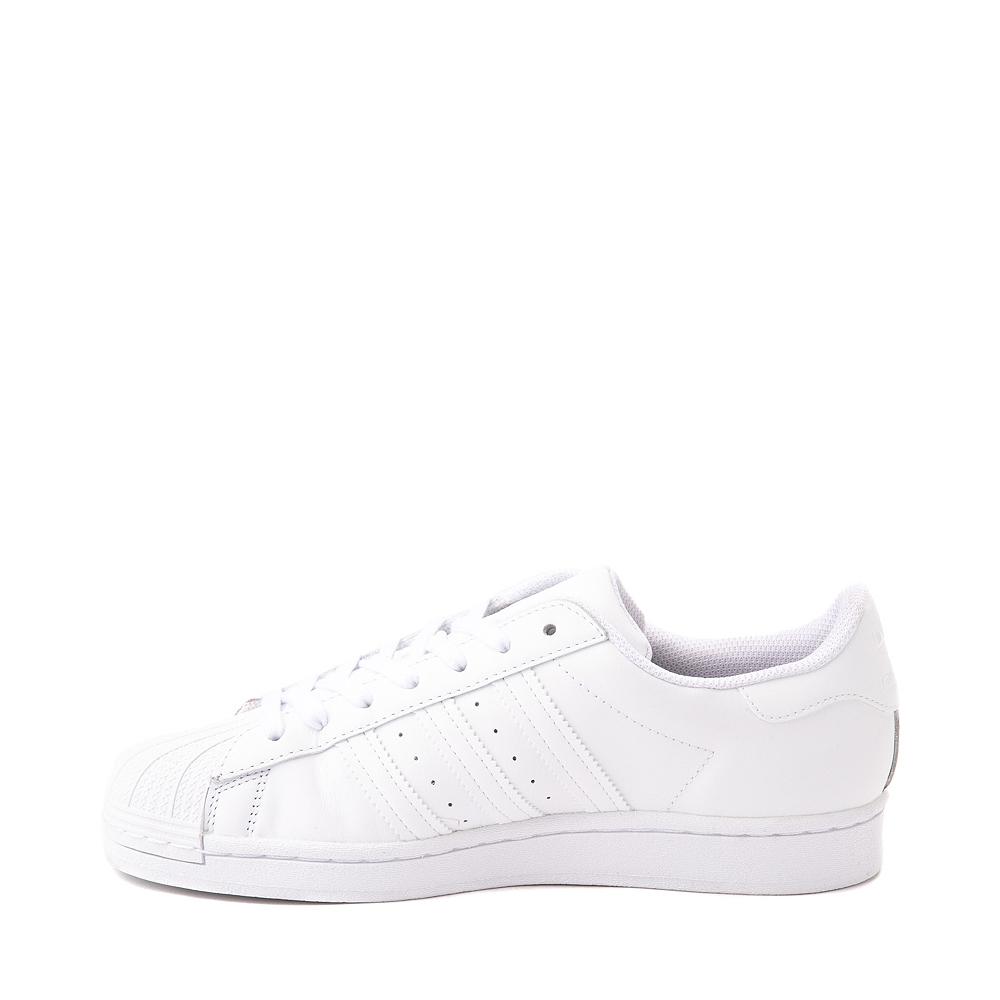 Womens adidas Superstar Athletic Shoe - White Monochrome