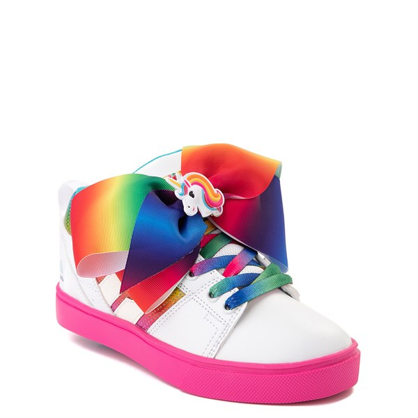 alternate view Heelys Racer JoJo Siwa™ Skate Shoe - Little Kid / Big Kid - White / RainbowALT1