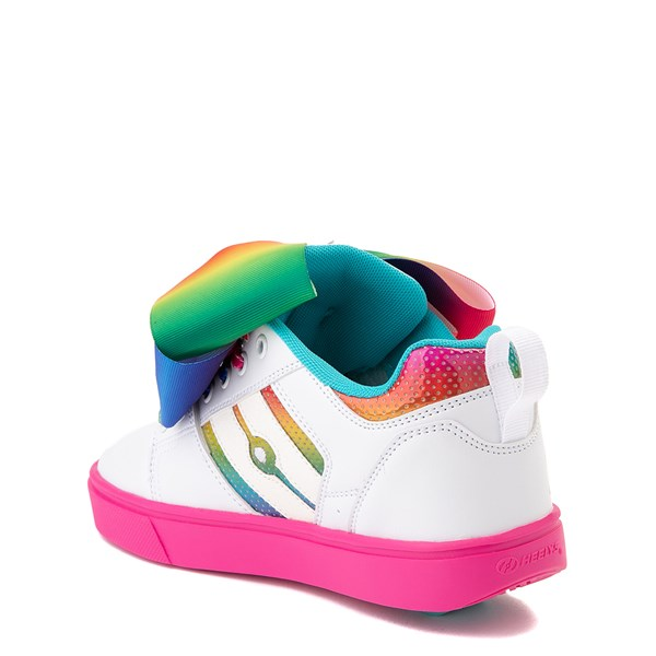 alternate view Heelys Racer JoJo Siwa™ Skate Shoe - Little Kid / Big Kid - White / RainbowALT2