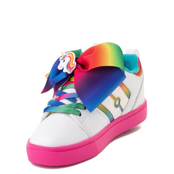 alternate view Heelys Racer JoJo Siwa™ Skate Shoe - Little Kid / Big Kid - White / RainbowALT3