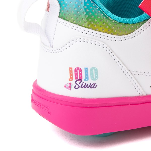 alternate view Heelys Racer JoJo Siwa™ Skate Shoe - Little Kid / Big Kid - White / RainbowALT7