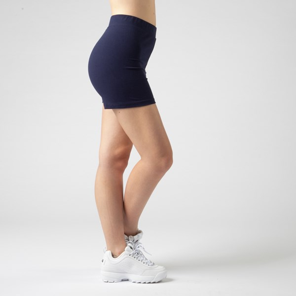 alternate view Womens Fila Beatriz High Rise Bike Shorts - NavyALT2