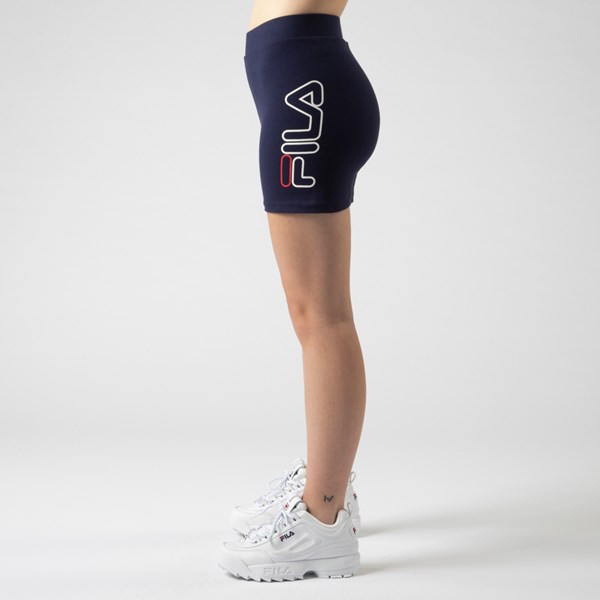 alternate view Womens Fila Beatriz High Rise Bike Shorts - NavyALT4