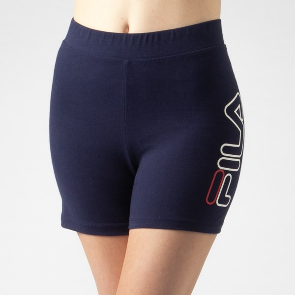 alternate view Womens Fila Beatriz High Rise Bike Shorts - NavyALT5