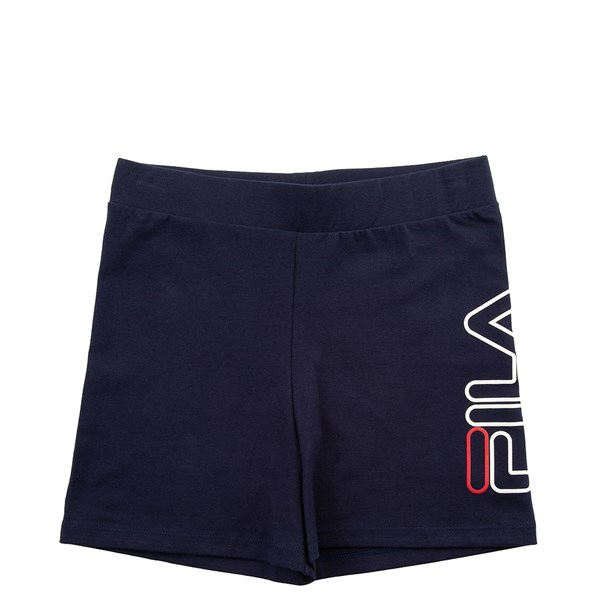 alternate view Womens Fila Beatriz High Rise Bike Shorts - NavyALT6