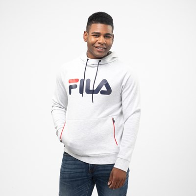 Main view of Mens Fila Ezra Hoodie - White