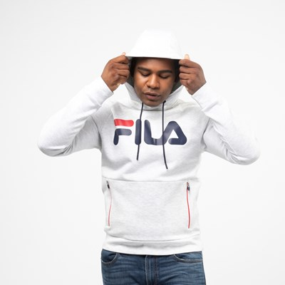 Alternate view of Mens Fila Ezra Hoodie - White