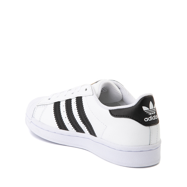 alternate view adidas Superstar Athletic Shoe - Little Kid - White / BlackALT1