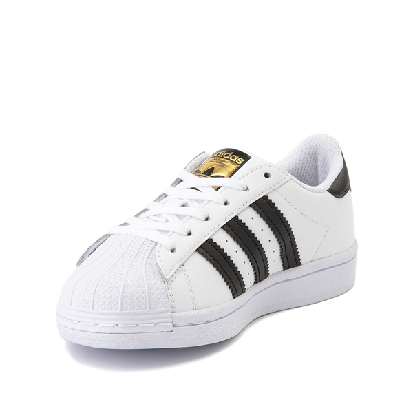 alternate view adidas Superstar Athletic Shoe - Little Kid - White / BlackALT2