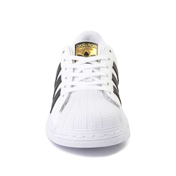alternate view adidas Superstar Athletic Shoe - Little Kid - White / BlackALT4