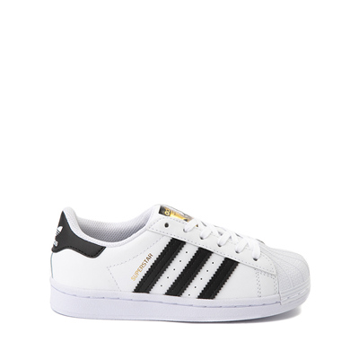 Main view of adidas Superstar Athletic Shoe - Little Kid - White / Black