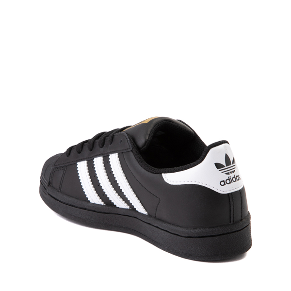 alternate view adidas Superstar Athletic Shoe - Little Kid - Black / WhiteALT1