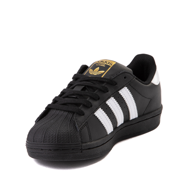 alternate view adidas Superstar Athletic Shoe - Little Kid - Black / WhiteALT2