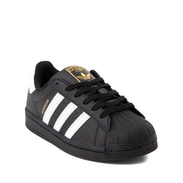 alternate view adidas Superstar Athletic Shoe - Little Kid - Black / WhiteALT5