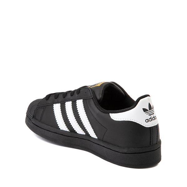 alternate view adidas Superstar Athletic Shoe - Big Kid - Black / WhiteALT1