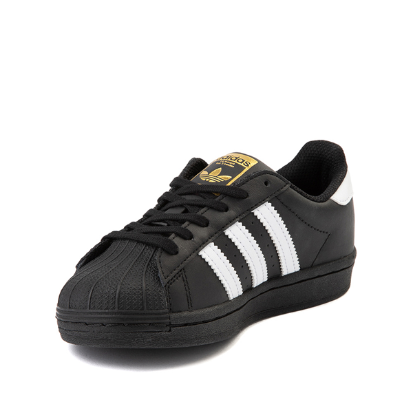 alternate view adidas Superstar Athletic Shoe - Big Kid - Black / WhiteALT2