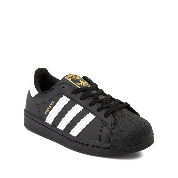 alternate view adidas Superstar Athletic Shoe - Big Kid - Black / WhiteALT5