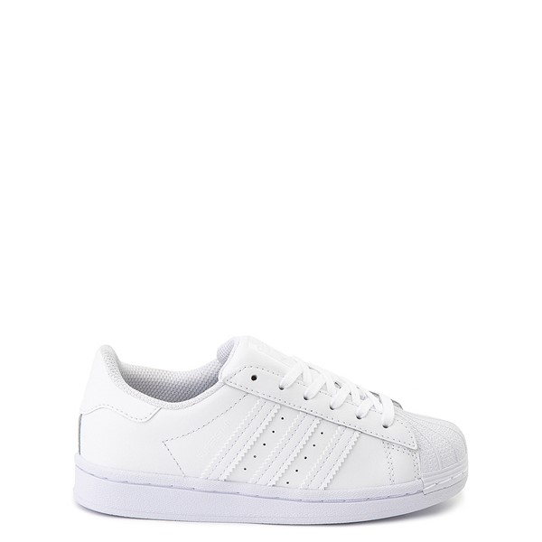 Main view of adidas Superstar Athletic Shoe - Little Kid - White Monochrome