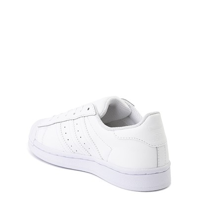 Alternate view of adidas Superstar Athletic Shoe - Little Kid - White Monochrome