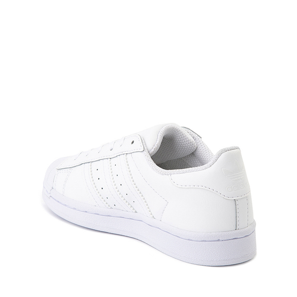 alternate view adidas Superstar Athletic Shoe - Big Kid - White MonochromeALT1