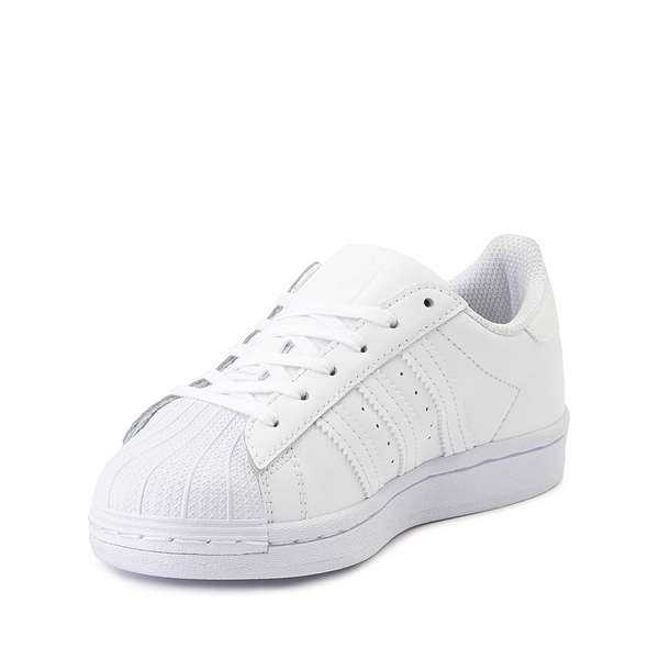 alternate view adidas Superstar Athletic Shoe - Big Kid - White MonochromeALT2
