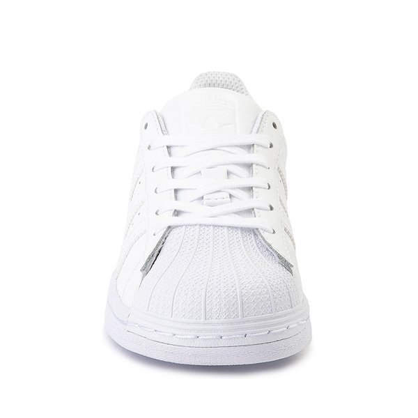 alternate view adidas Superstar Athletic Shoe - Big Kid - White MonochromeALT4