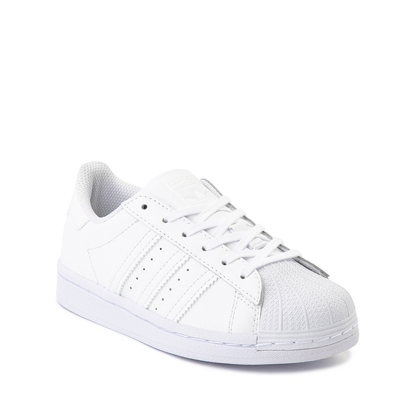 alternate view adidas Superstar Athletic Shoe - Big Kid - White MonochromeALT5