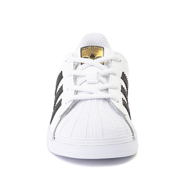 alternate view adidas Superstar Athletic Shoe - Baby / Toddler - WhiteALT4