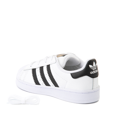 Alternate view of adidas Superstar Athletic Shoe - Baby / Toddler - White