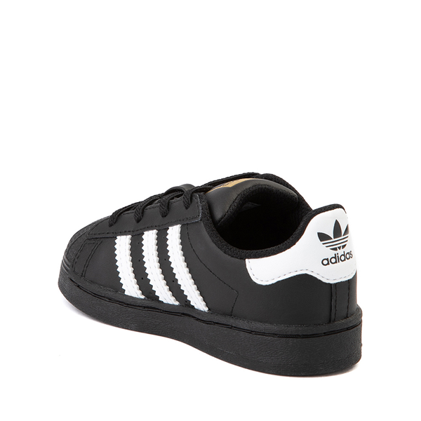 alternate view adidas Superstar Athletic Shoe - Baby / Toddler - BlackALT1