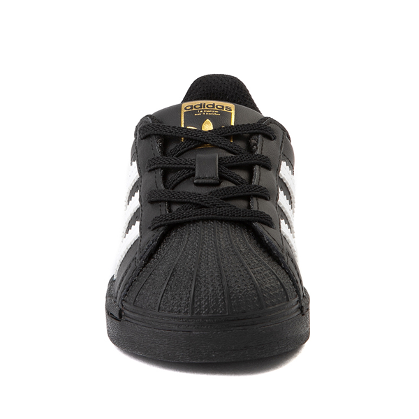 alternate view adidas Superstar Athletic Shoe - Baby / Toddler - BlackALT4