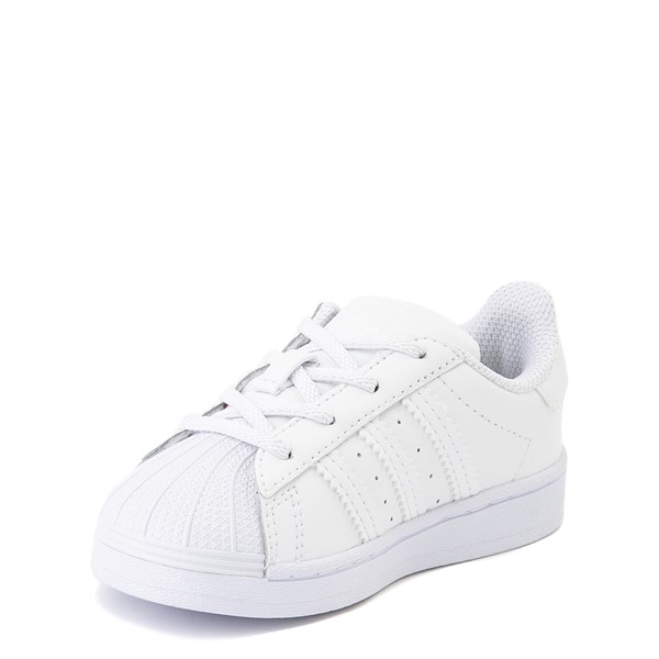 alternate view adidas Superstar Athletic Shoe - Baby / Toddler - White MonochromeALT2