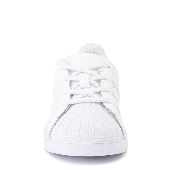 alternate view adidas Superstar Athletic Shoe - Baby / Toddler - White MonochromeALT4